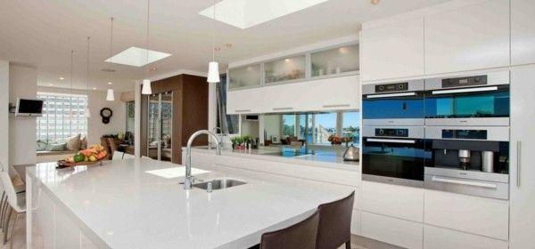 Küche Mit Kochinsel Moderne Küchenideen In Weiß