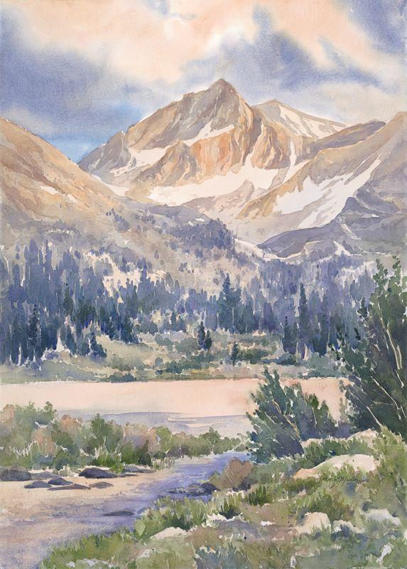 Alpenglow Rock Creek Jpg 573 800 Pixels Paysage Montagne Paysage Aquarelle