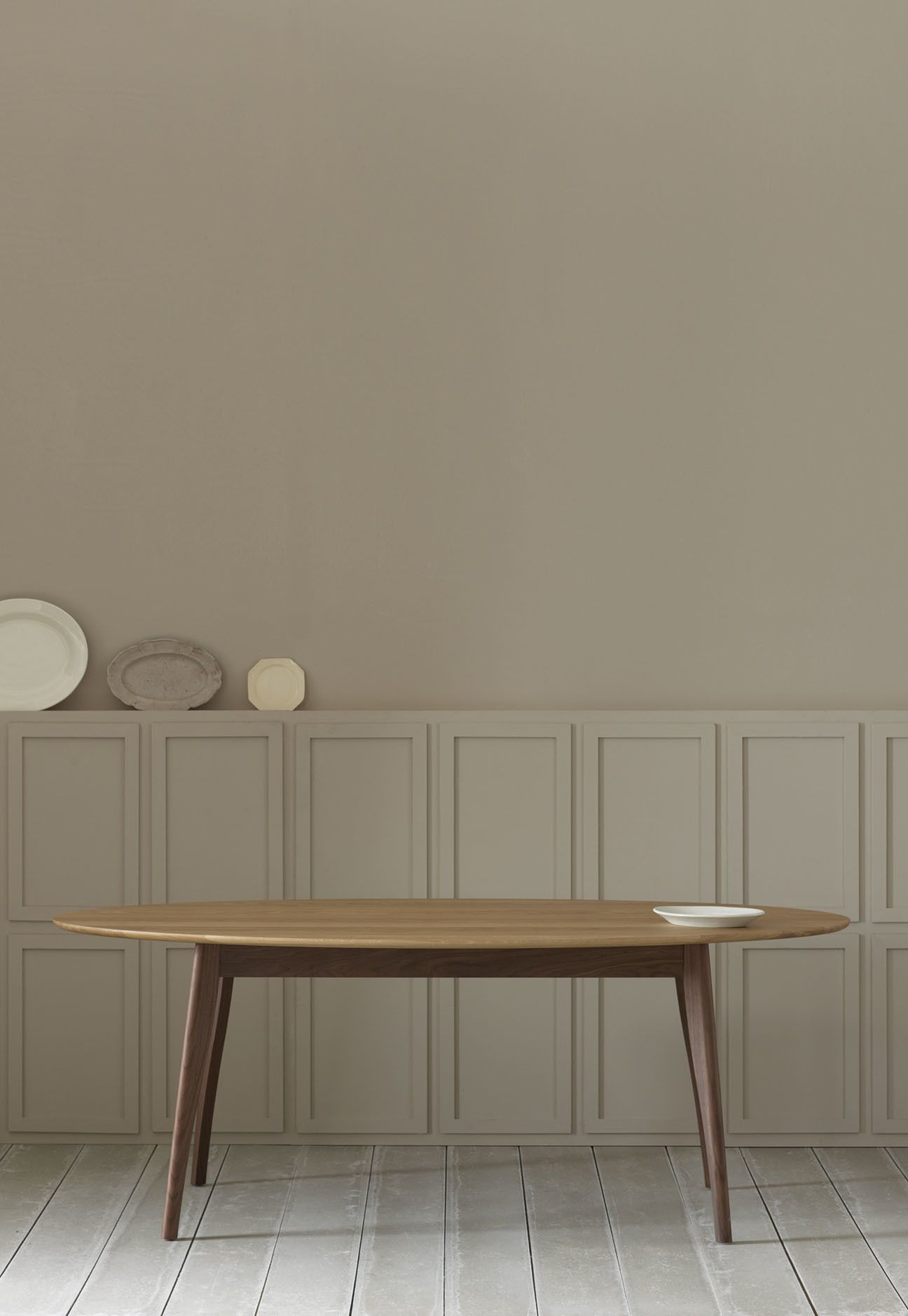 Contemporary Modern Dining Table With Splayed Legs And An Oval Top Harper From Pinch Design