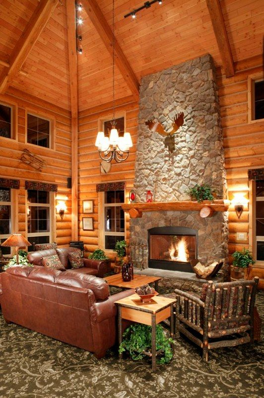 Log cabin homes kits interior photo gallery log for Decorate log cabin interior