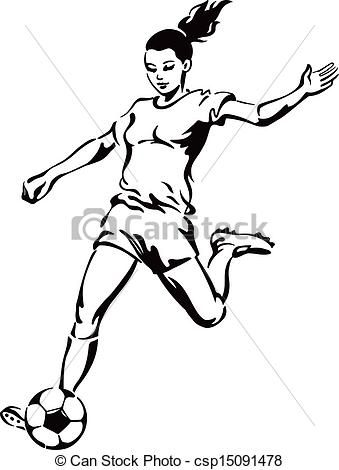 Girl Soccer Player Clipart Clipart Panda Free Clipart Images Football Girls Soccer Drawing Girl Football Player