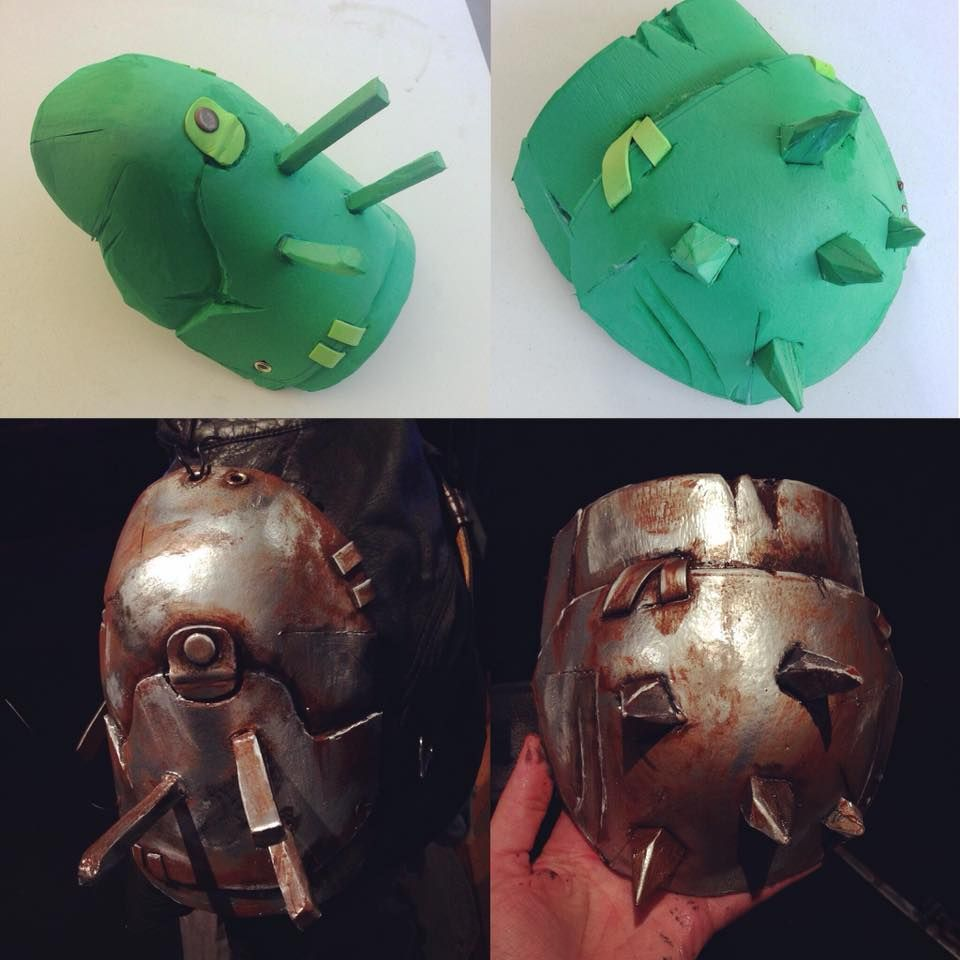 fallout shoulder armour pauldron raider - beautifully done