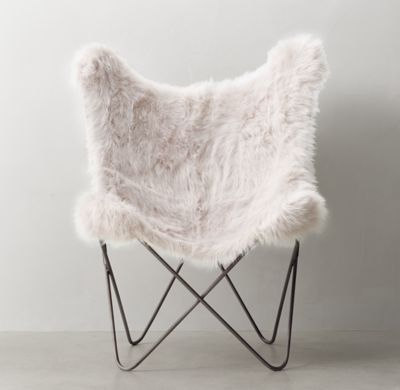 RH TEENu0027s Tye Kashmir Faux Fur Butterfly Chair:Inspired By The 1930s Iconic  Original,