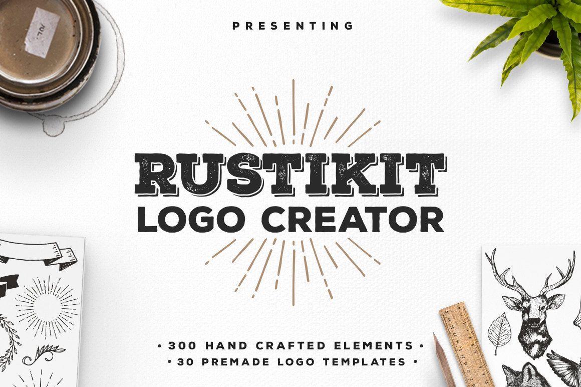 Rustikit Logo Creator di DavideBassu su Etsy