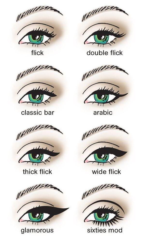 different eyeliner styles makeup pinterest eyeliner