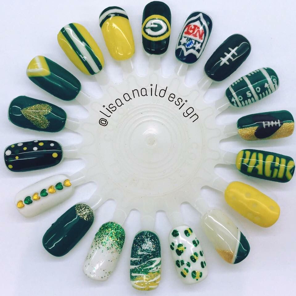 Packer Nails | Greenbay Packers | Pinterest | Packer nails, Packers ...