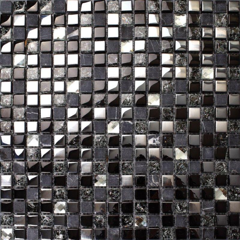 Crackle crystal mosaic diamond silver plating glass tile backsplash