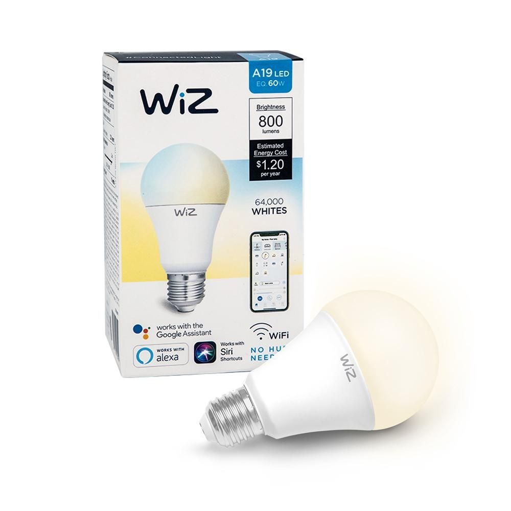 Wiz 60 Watt Equivalent A19 Tunable Wi Fi Connected Smart Led Light