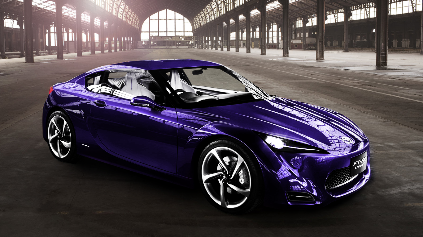 Toyota scion ft 86 concept work done color change from red to