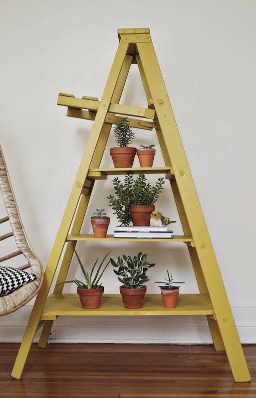 Ladder Shelf Interior Design Southafrica Diy Diy Ladder Ladder Display Diy Home Decor