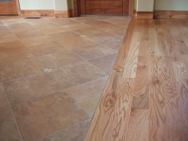 flush wood to tile transition - Flush Wood To Tile Transition Tiled Floors Pinterest Flats