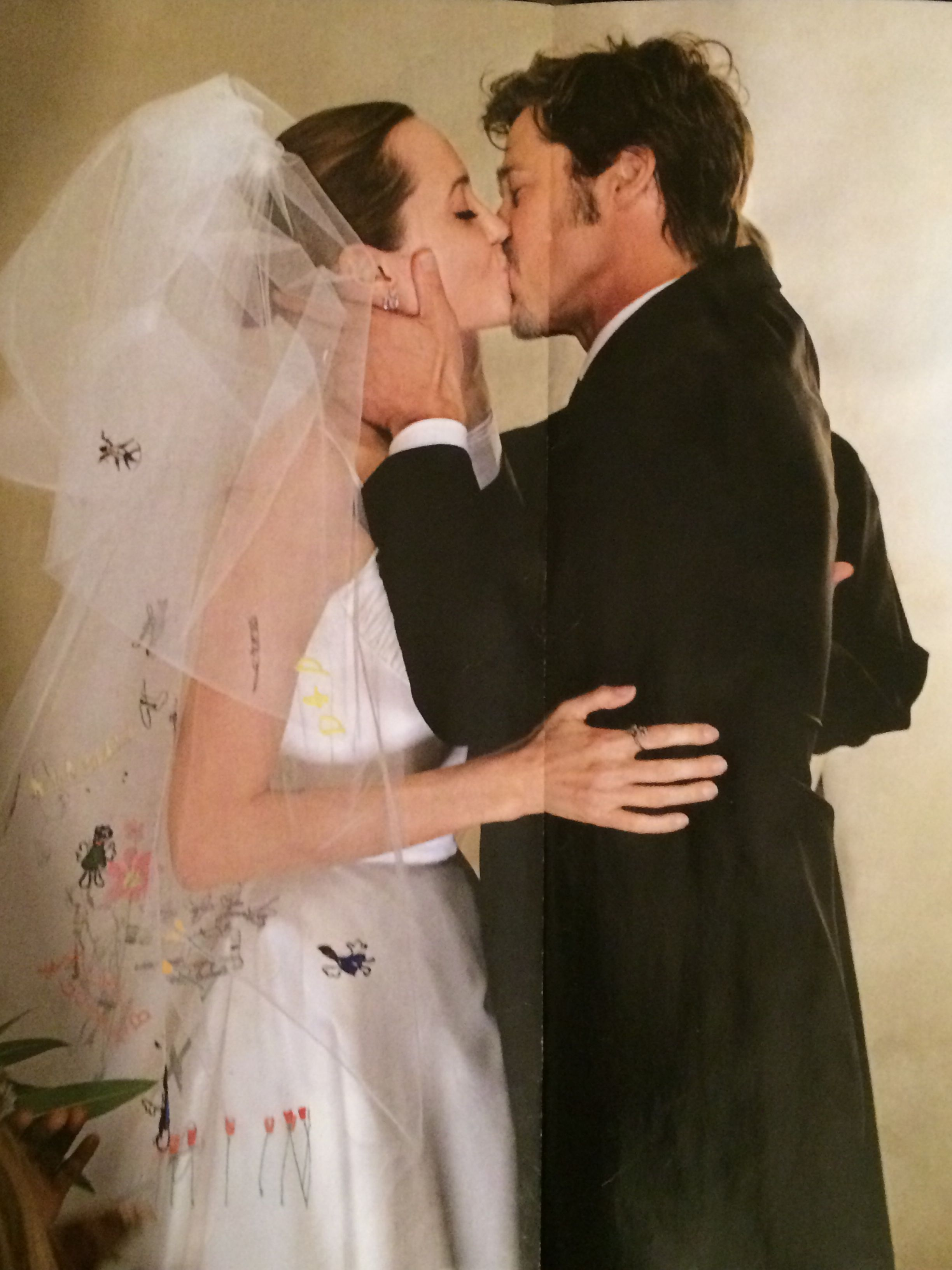 Angie And Brad Wedding Kiss Via People Magazine With Images