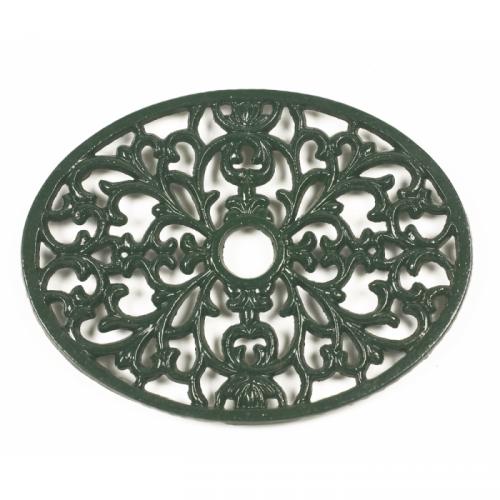 Trivet Heavy Duty V6 Oval Green Symple Stuff Metal Casting Metal Words