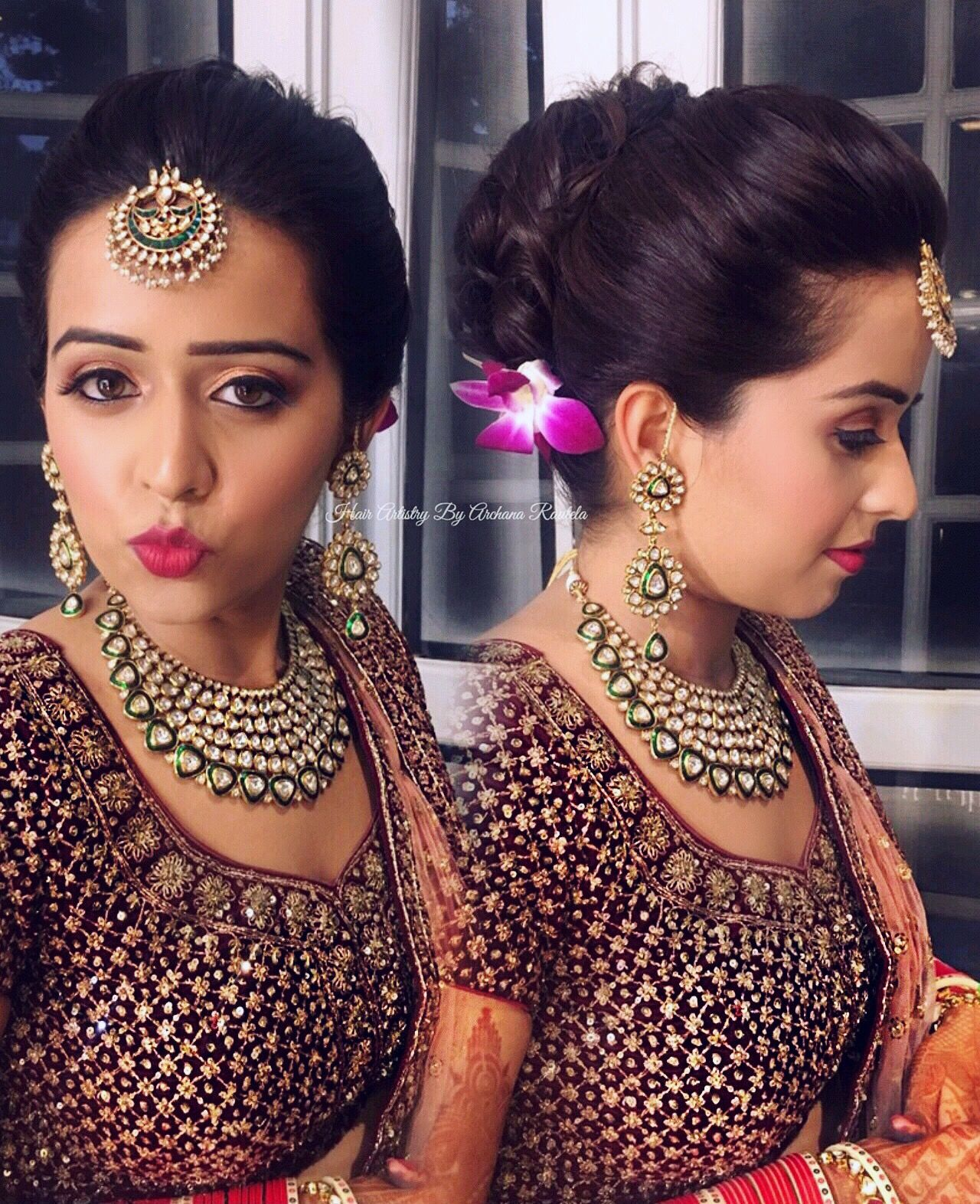 Gorgeous Traditional South Indian Bridal Hairstyles Front