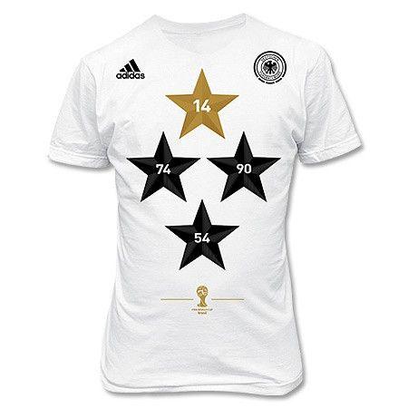 T-Shirt de Alemania 4 Estrellas Campeones del Mundo 2014 adidas