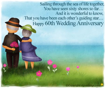 happy 60th wedding anniversary cards