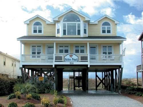Holden Beach Nc Peach 531 A 4 Bedroom Oceanfront Al House In Part Of The Brunswick Beaches North Carolina
