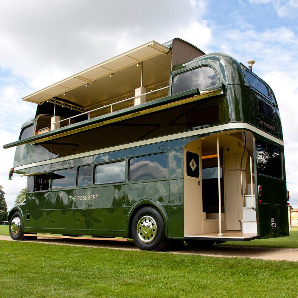 The Rosebery  green decked bus  Bus house, London bus, Party bus