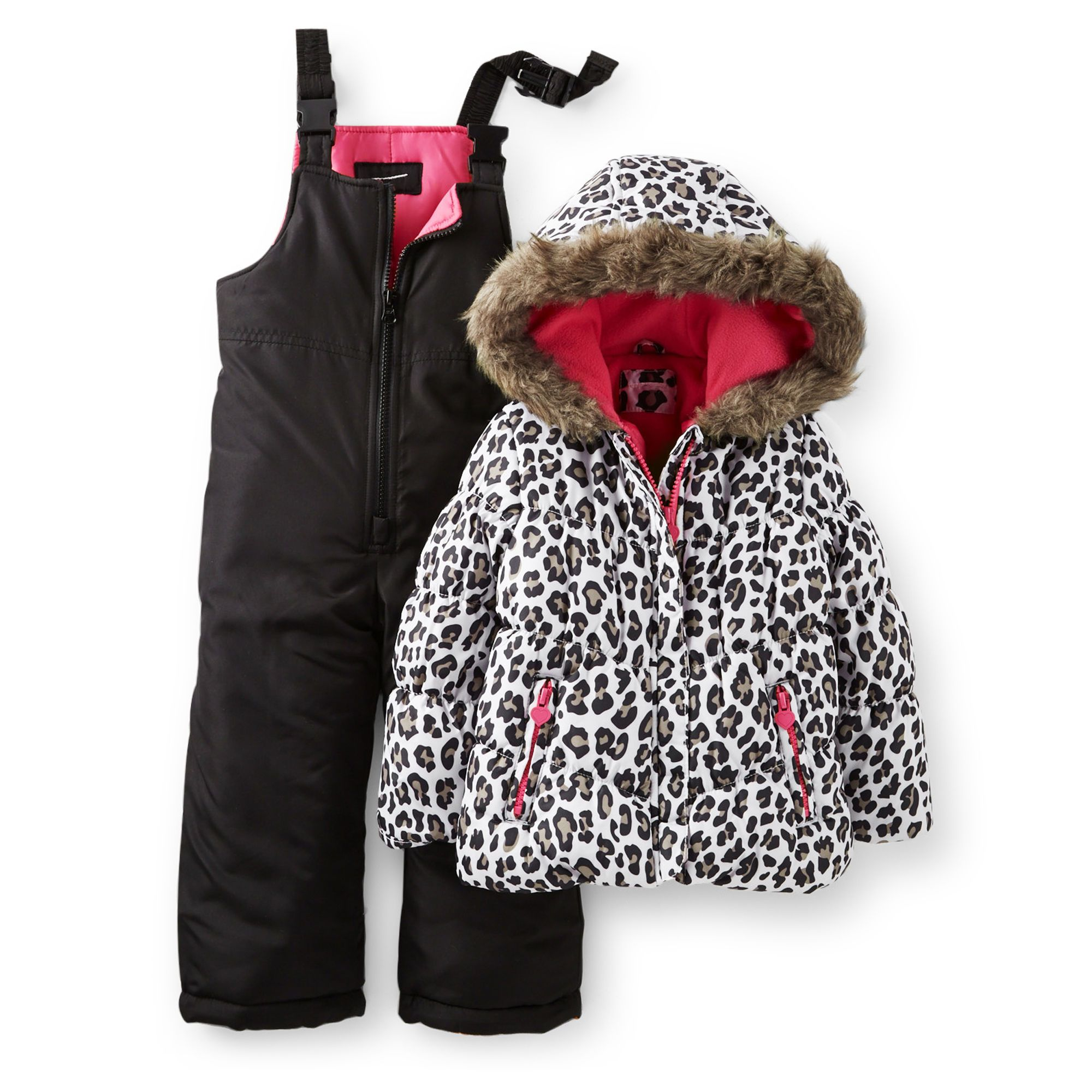 615c30ee9 2-Piece Leopard Print Snowsuit