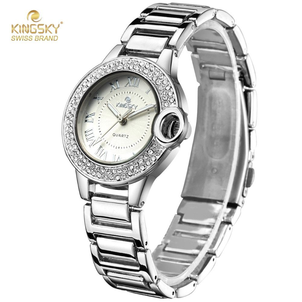 New Womens Watches Top Brand Kingsky Luxury Crystal Rhinestone Analog Quartz Wrist Watches For Women Fashion Ladies Dress Watch  #style #women #men #me #fashion #sexyshoes #money #bride #belts #graduation #sale #gift #baby #trendy #gloves