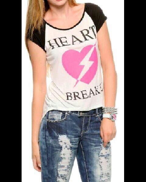 Rue 21 heartbreaker t shirt