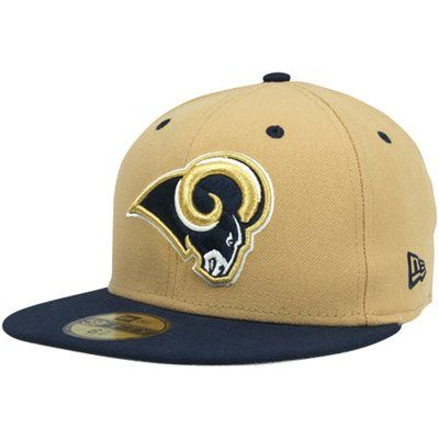 6ac65b72 New Era St. Louis Rams Two-Tone 59FIFTY Fitted Hat - Gold/Navy Blue ...