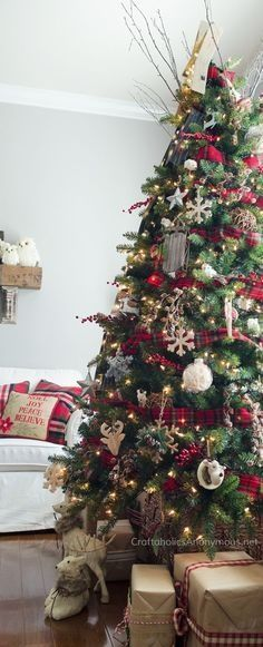 Photo of Popular Red And White Christmas Tree Decoration Ideas 7#christmas