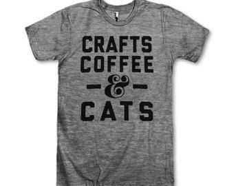 Crafts Coffee & Cats by AwesomeBestFriendsTs on Etsy