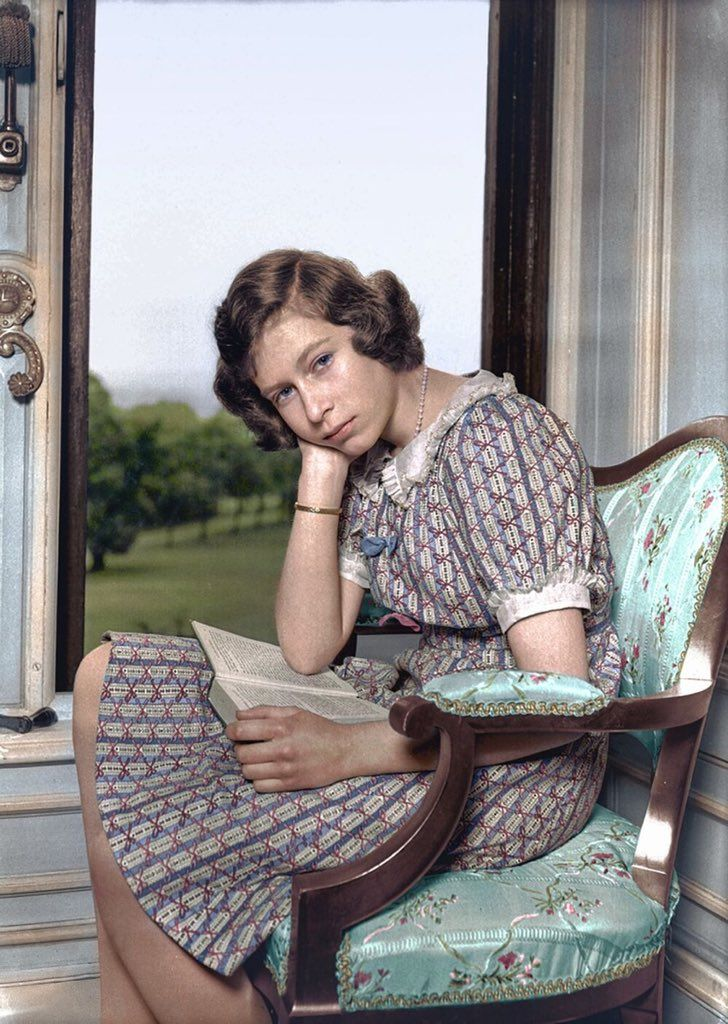 Princess Elizabeth at the age of 14. Young queen