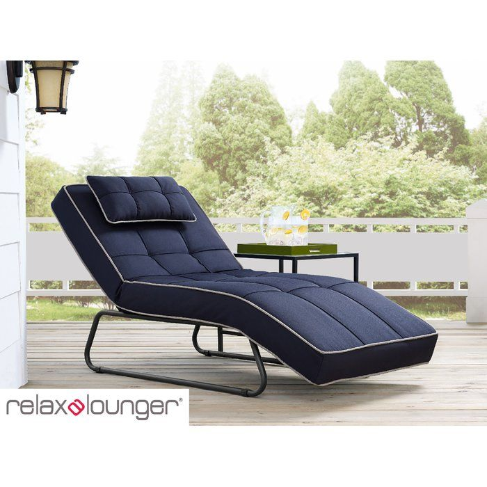 Andrew Outdoor Convertible Chaise Lounge with Cushion