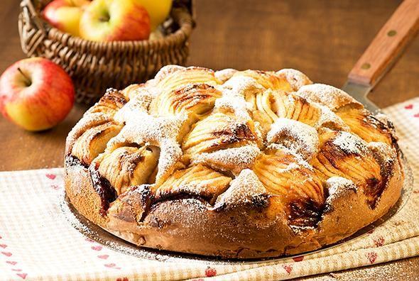 Rezept: Apfelkuchen mit Puderzucker bei for me