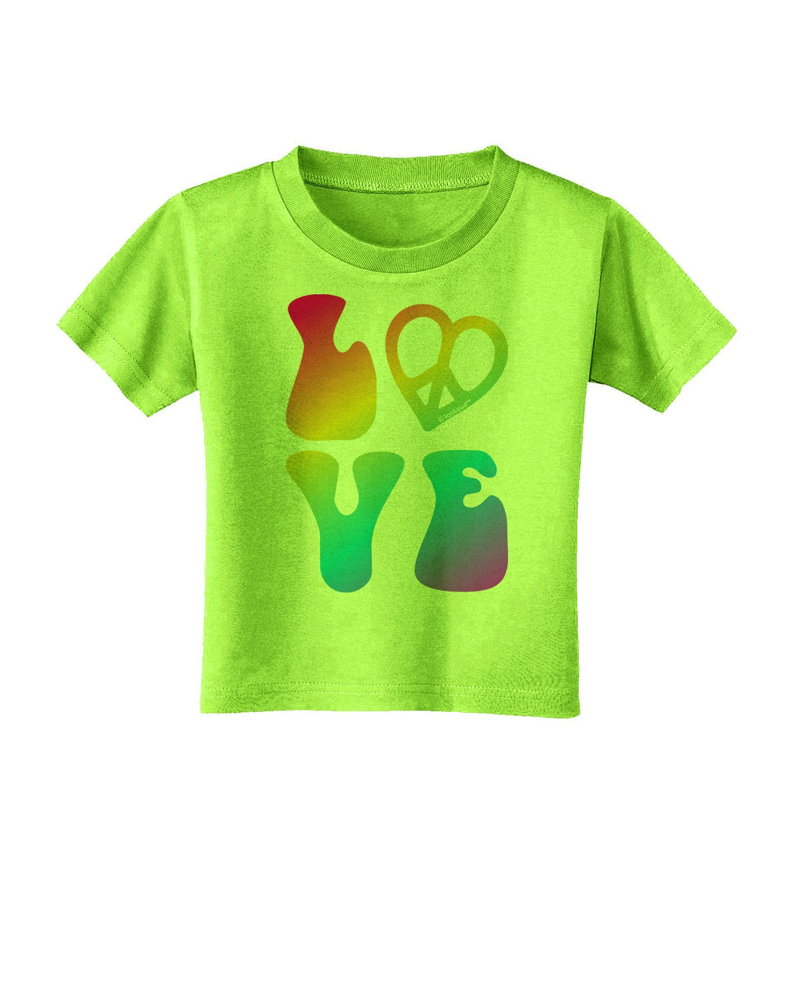 TooLoud Peace and Love - Peace Heart Love Toddler T-Shirt