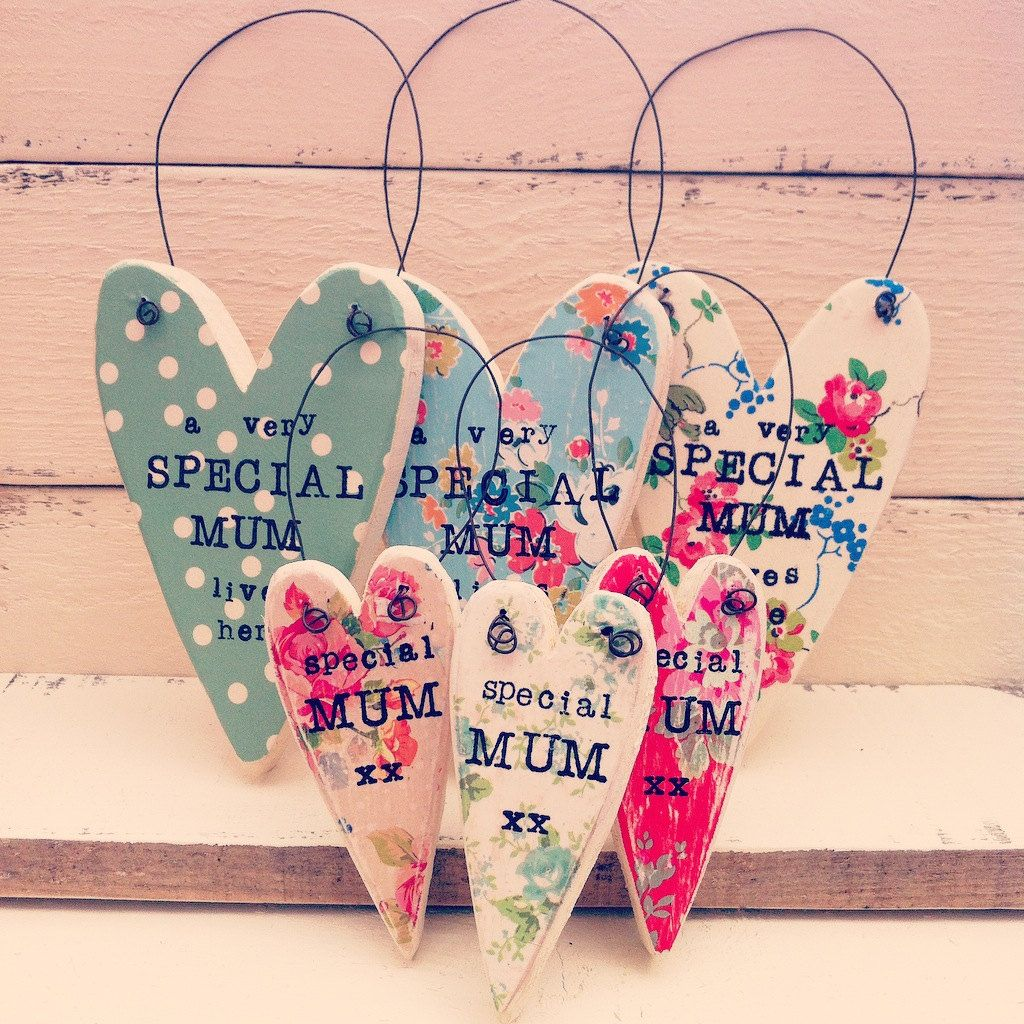 Mothers Day Wooden Heart Keepsake By Thepiphouse On Etsy Wooden Hearts