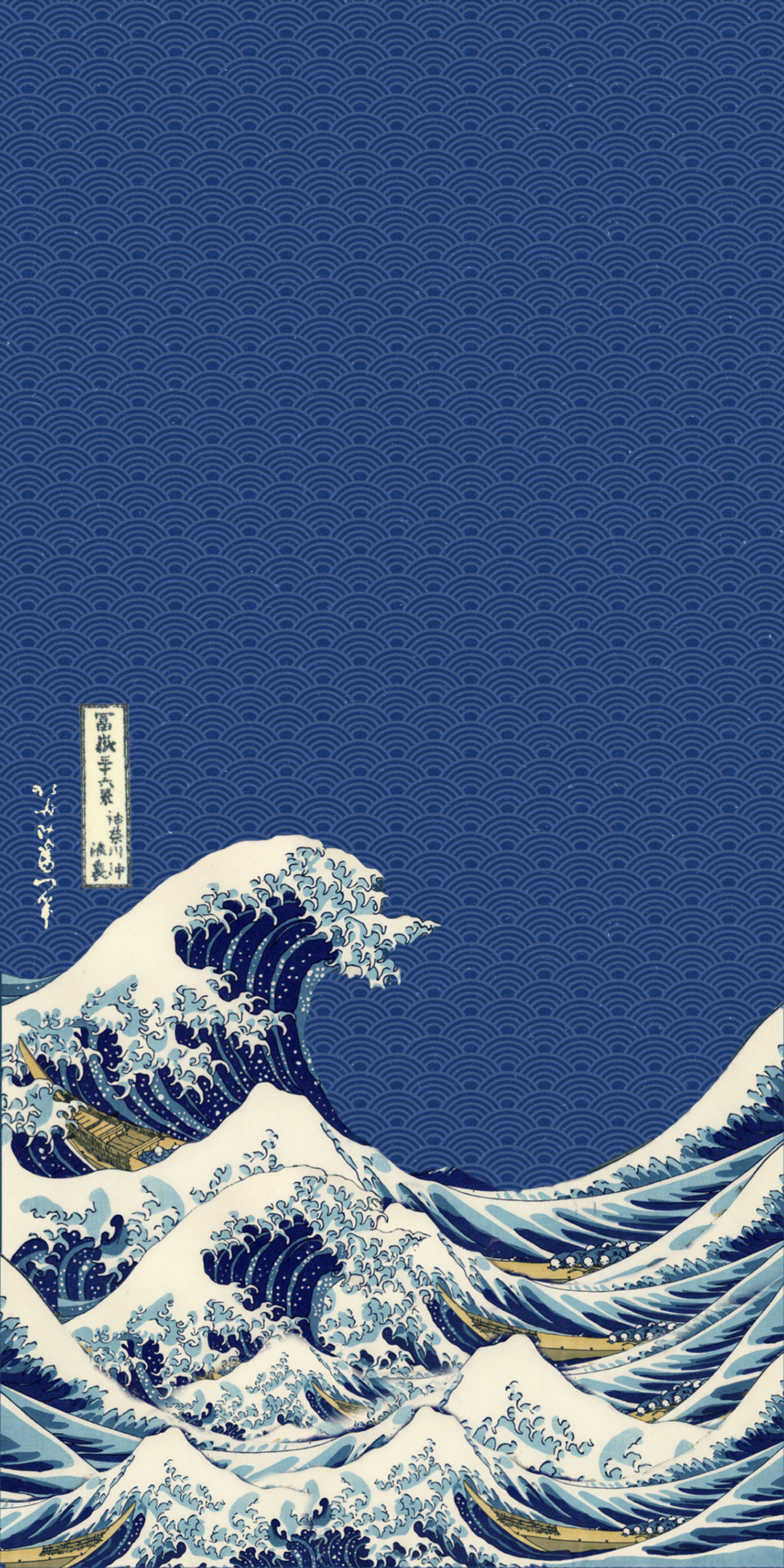 Great Wave Of Kanagawa Think You Guys Could Find Me A Wallpaper Similar To This Waves Wallpaper Iphone Japanese Wallpaper Iphone Vaporwave Wallpaper