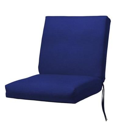 Home Decorators Collection 19 In. W Blue Bullnose Seat/Back Outdoor Cushion  1573130310