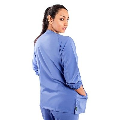 Addison Ave Scrub Jacket Ceil Blue Large