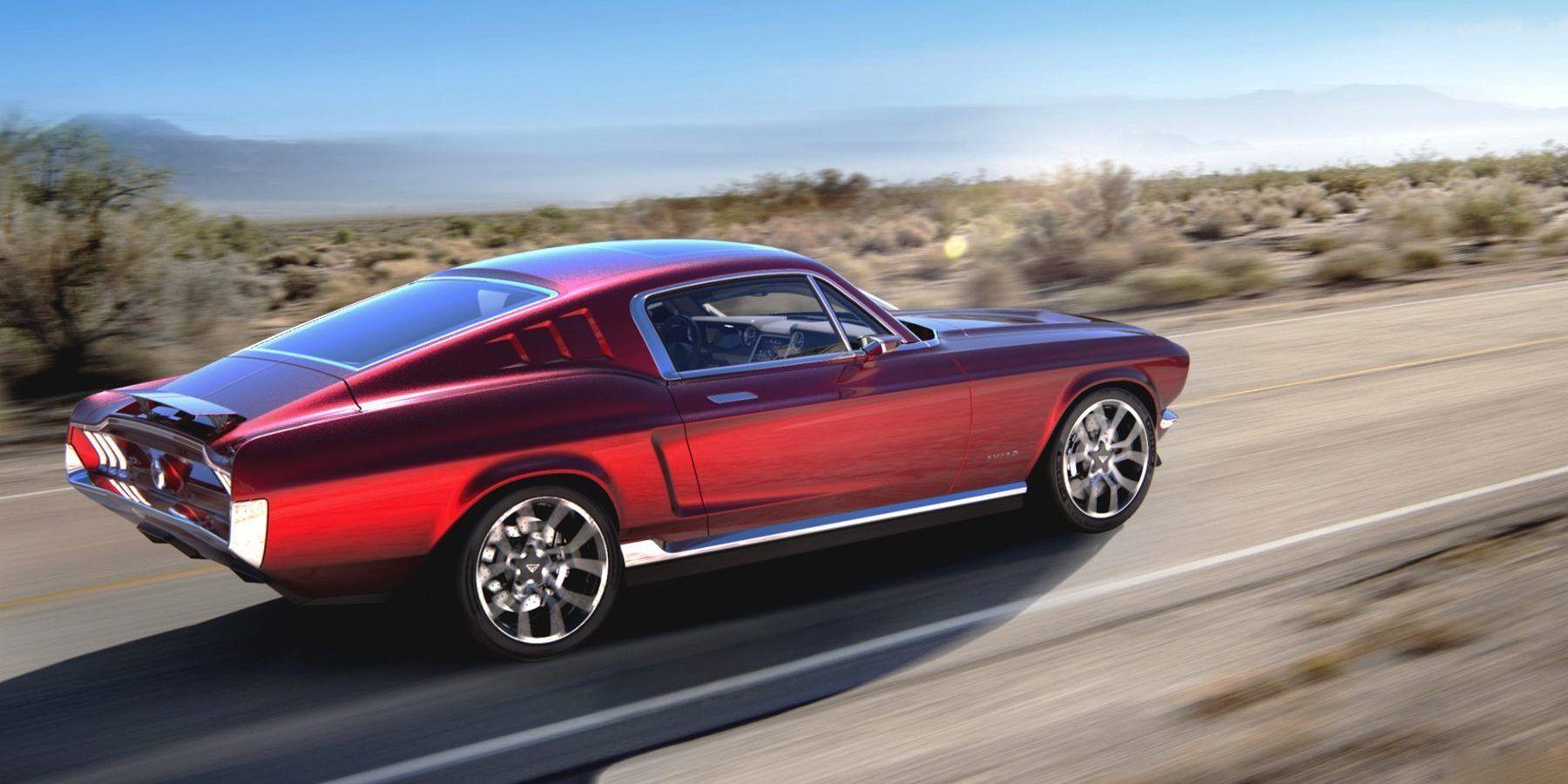 1967 Mustang Meets Tesla Aviar Motors All Electric Muscle Car Ford Mustang Oldtimer Ford Mustang Mustang
