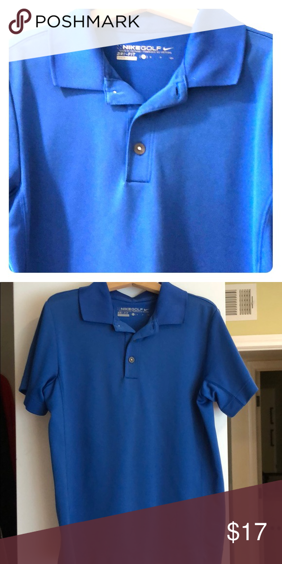 best wholesaler fashion styles best authentic Nike golf youth shirt Royal blue Nike youth golf shirt with ...
