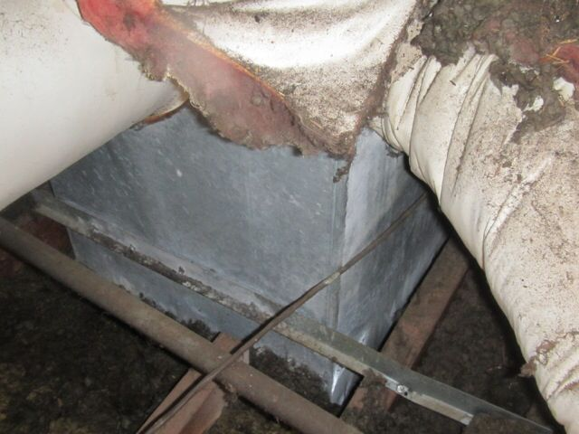 This plenum was not insulated in the hot attic and