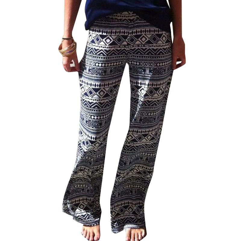 96760307b103 Women-Sexy-Fashion-Floral-Casual-High-Waist-Wide-Leg-Long-Pants-Palazzo- Trousers