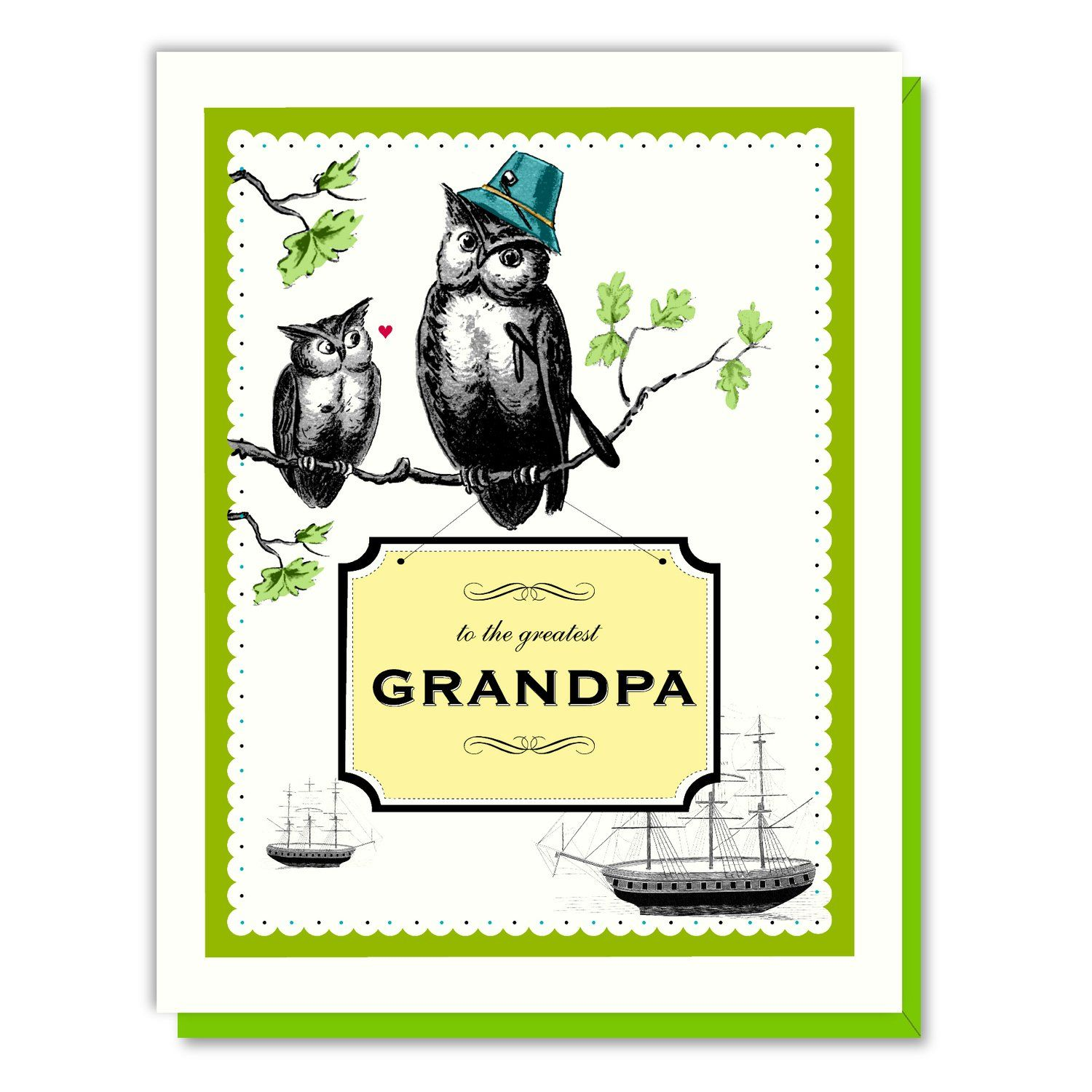 Grandpa owl card paper luxe pinterest owl card and products
