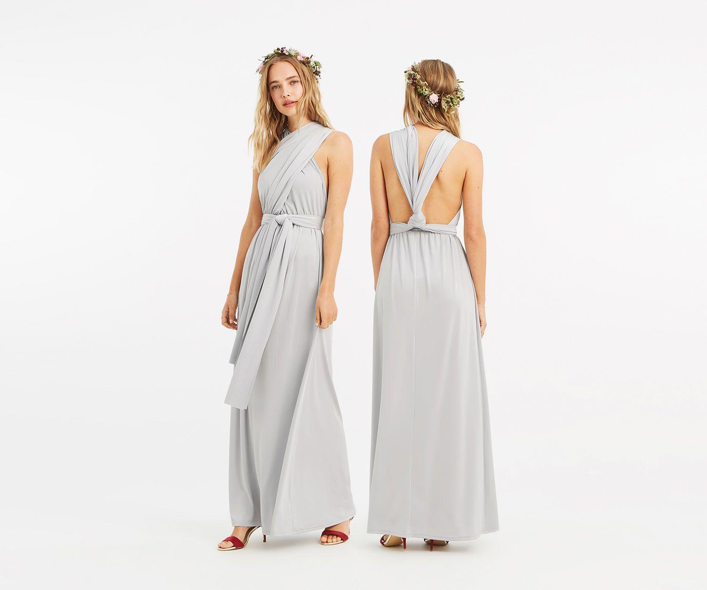 Oasis Annie Multiway Maxi Dress Pale Grey Maxi Dress Dresses For Sale Dresses
