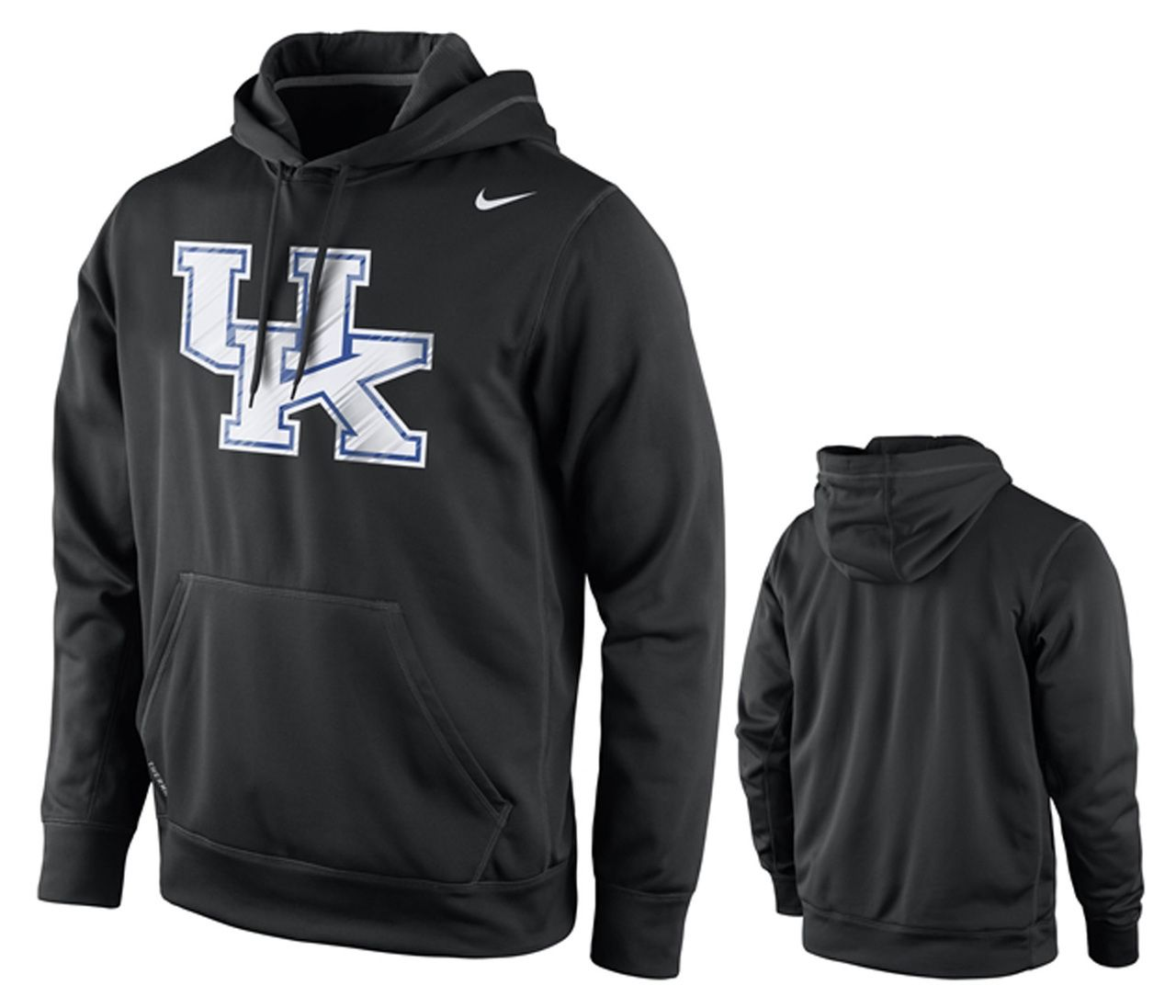 Kentucky Wildcats Adult Warpspeed Performance Hooded Sweatshirt - Black - Campus Colors #kentuckywildcats