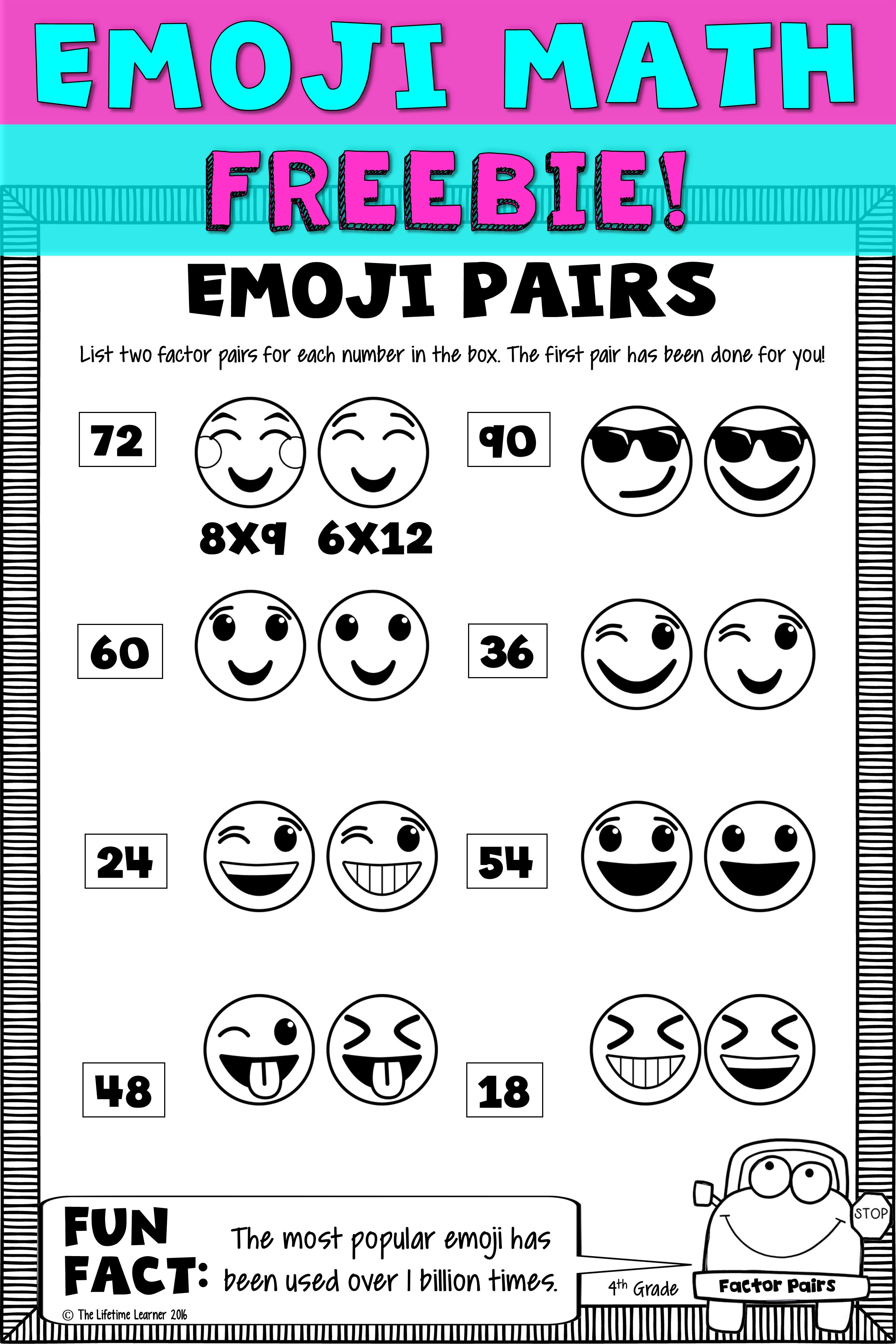 Emoji Math Freebie