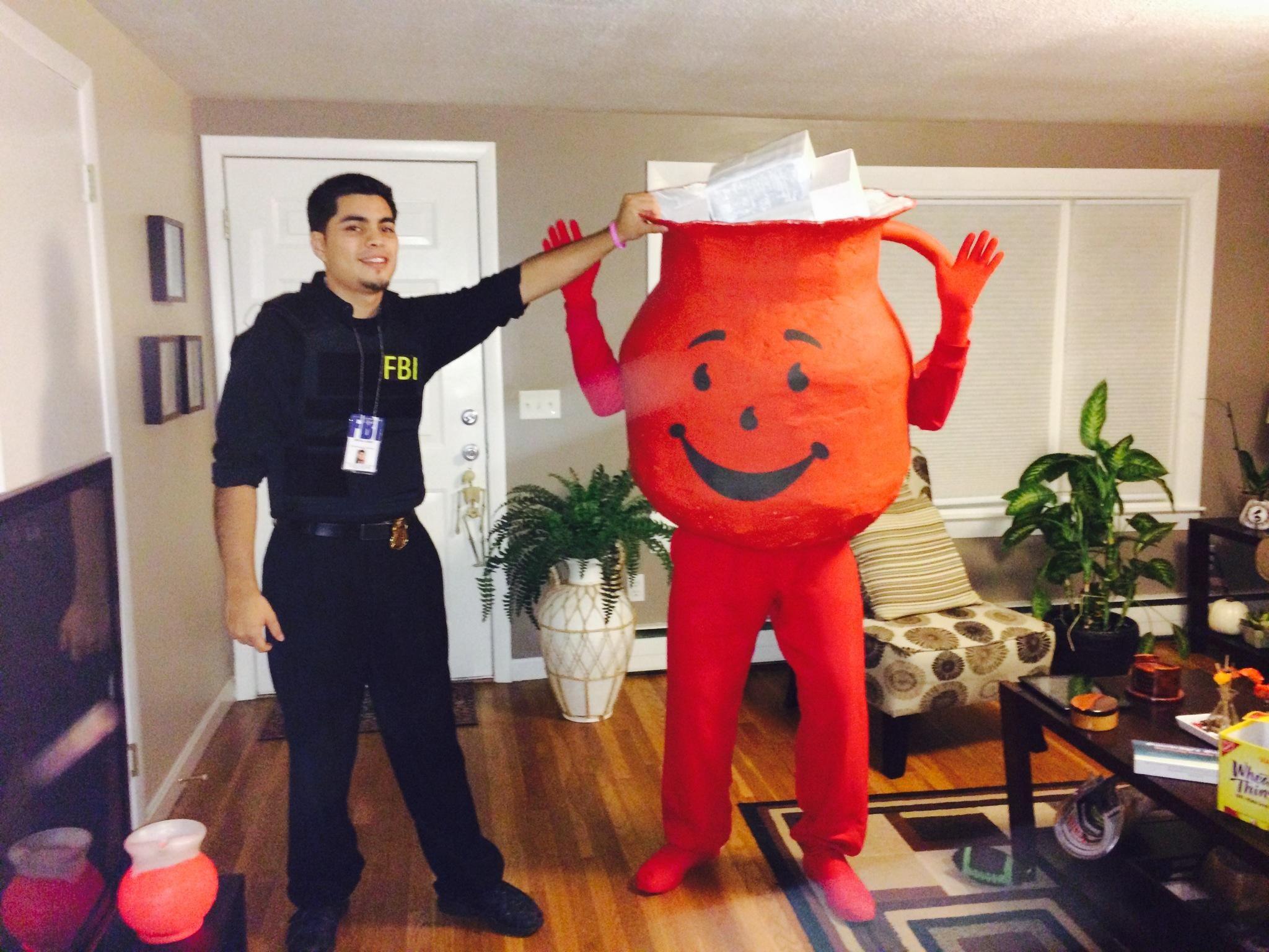 Kool Aid Man Caught Red Handed Kool Aid Man Costume Halloween Costume Contest Costume Contest
