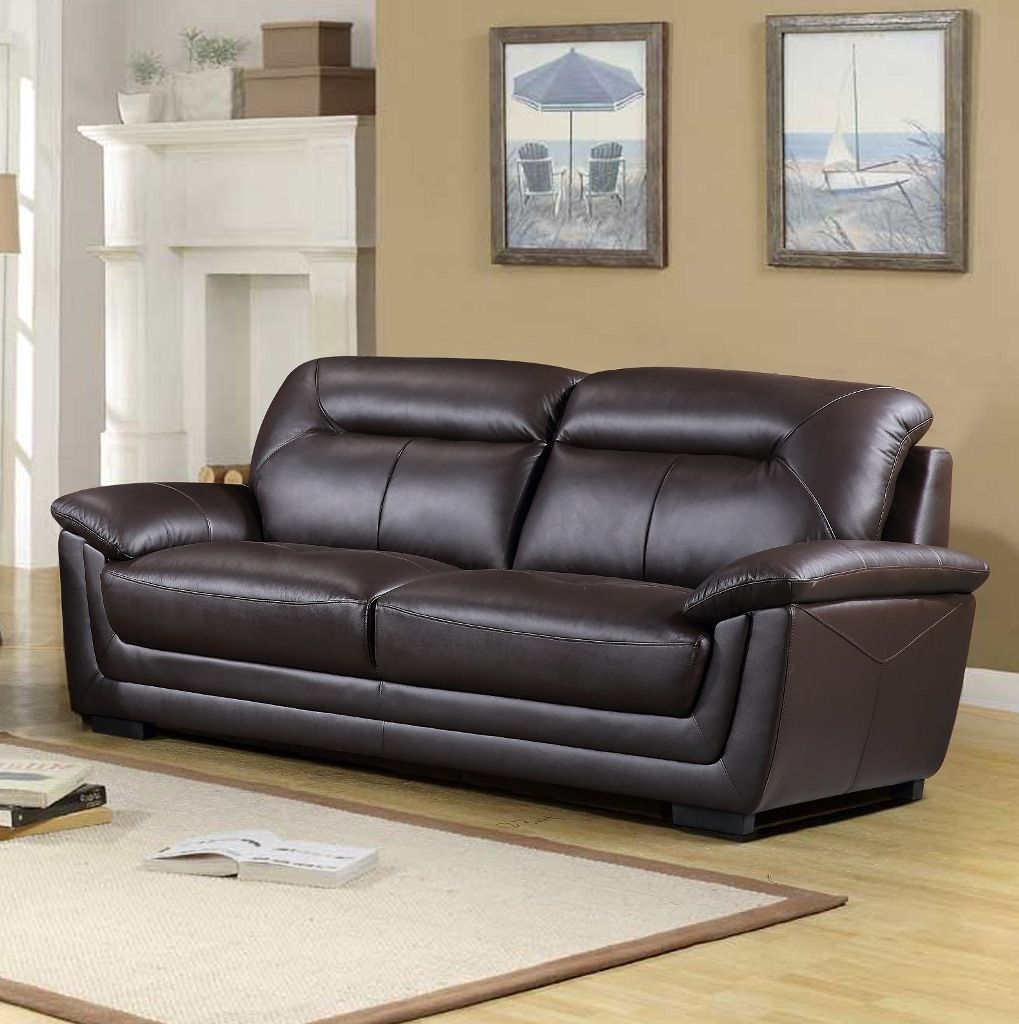 Tyson Genuine Leather Sofa, Brown Or Black, Just $1299! Tax Included U0026 Free