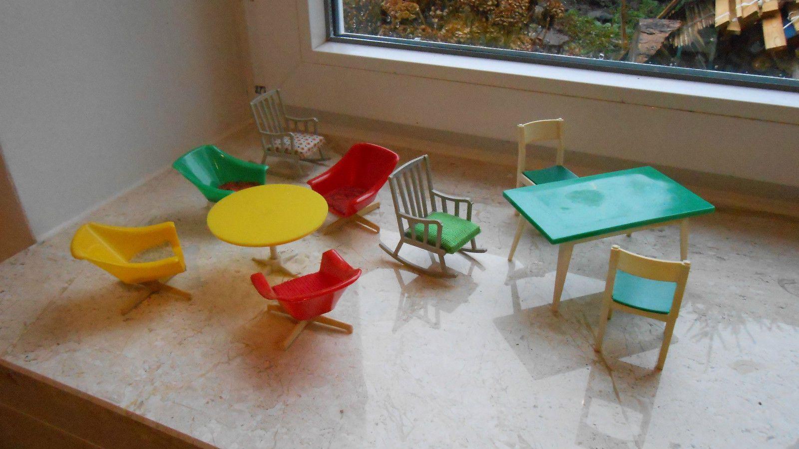 Ddr Küchenmöbel ~ Alte kultige er jahre ddr plastik möbel für die puppenstube de