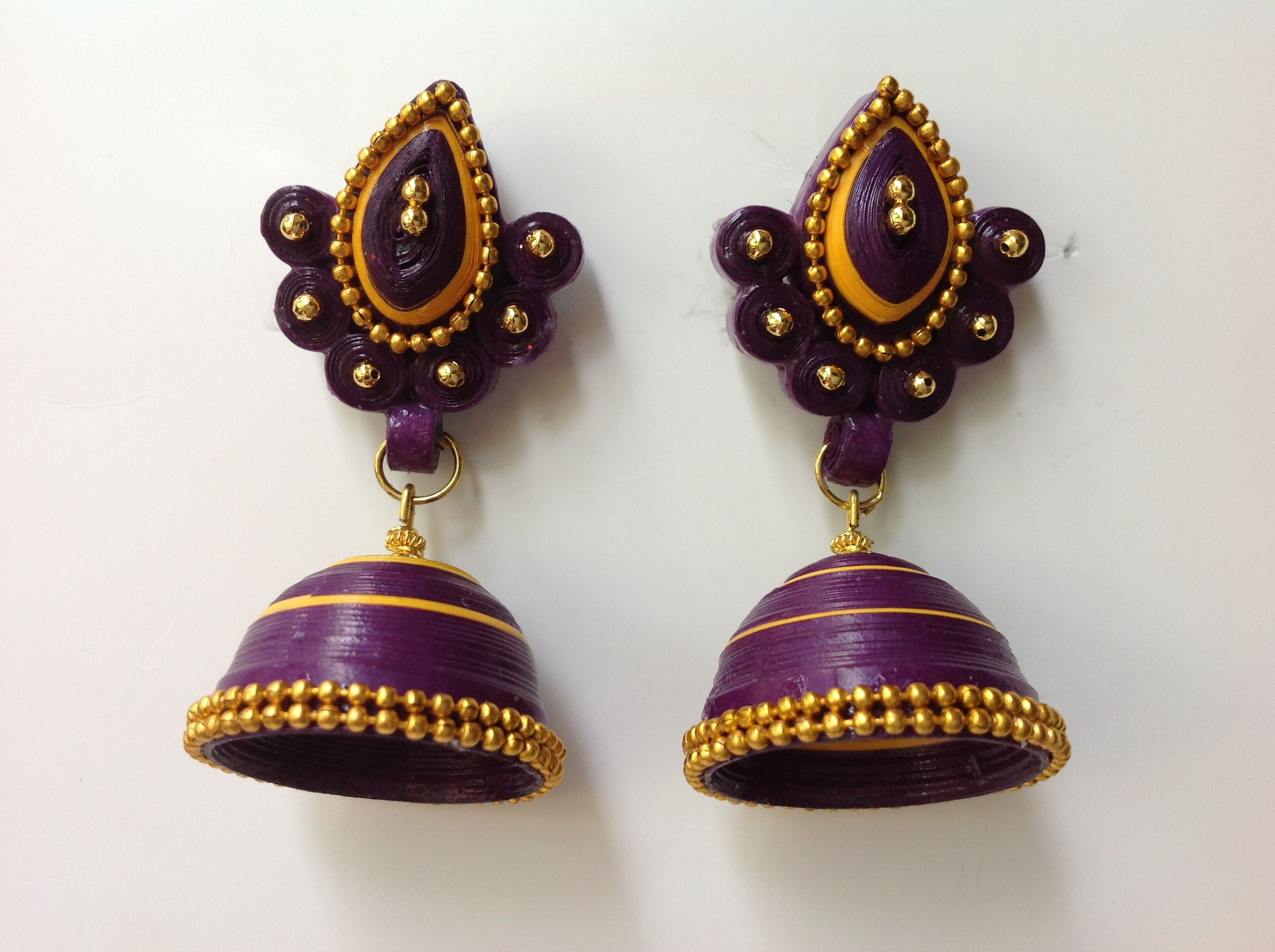 party-wear-paper-quilling-jhumka-designs.jpg (2592x1936) jewellery ideas and tutorial ...
