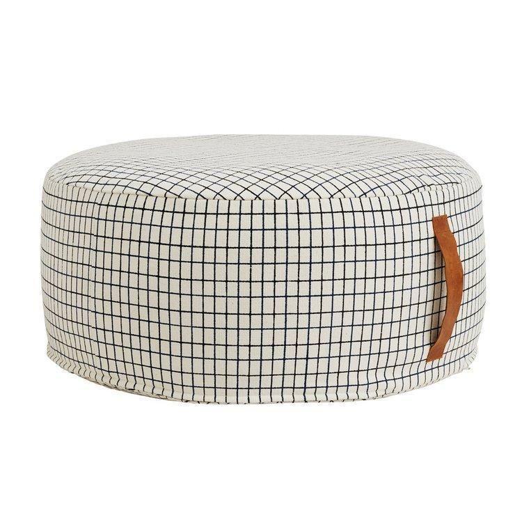 Sit On Me Pouf Round Offwhite Pouf Modern Scandinavian Furniture Pouffe