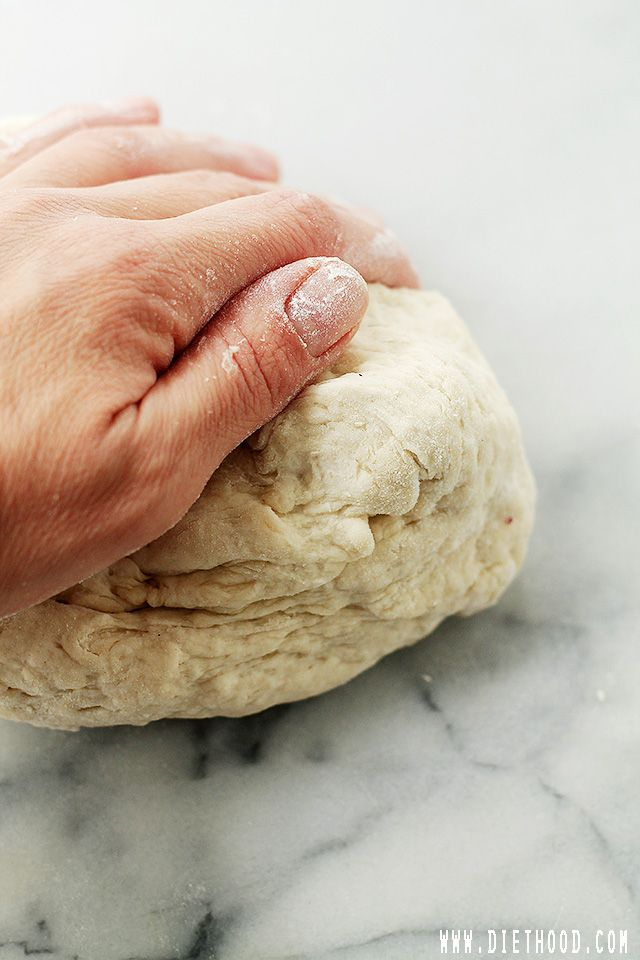 Yeast-Free Pizza Dough | www.diethood.com | Fast and ...
